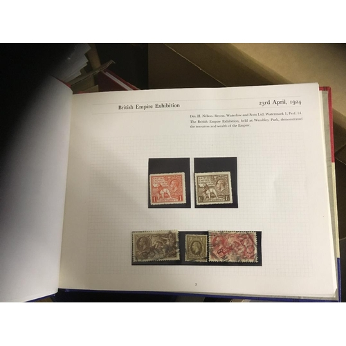 6 - Glory box including thematic covers, GB collection with 1924 Wembely mint, 1948 Silver Wedding £1 mi...