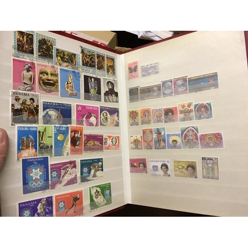 11 - STAMPS : Five stock books of various mint and used issues from countries ranging from Pahang to Sril...