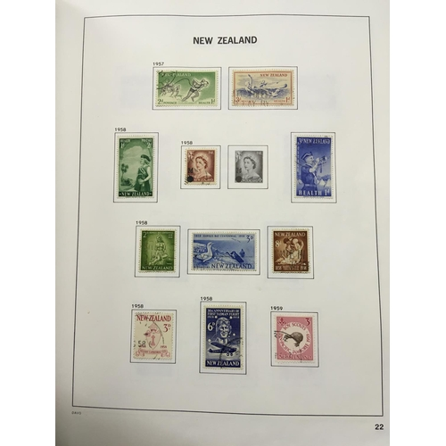 19 - BRITISH COMMONWEALTH, box with five albums inc New Zealand collection in a Davo printed album with f...