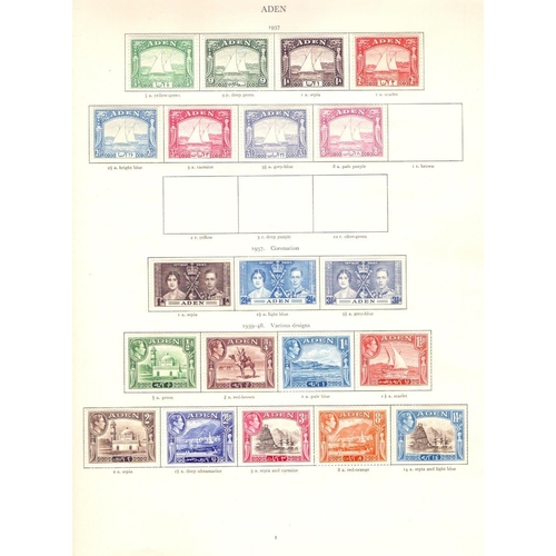 5 - STAMPS : GVI Red Crown album mounted mint , well filled with many full sets noted including 1948 Bah...