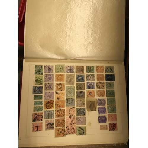 28 - STAMPS : Nine albums with various mint and used Commonwealth part sets, mainly on black pages, looks...