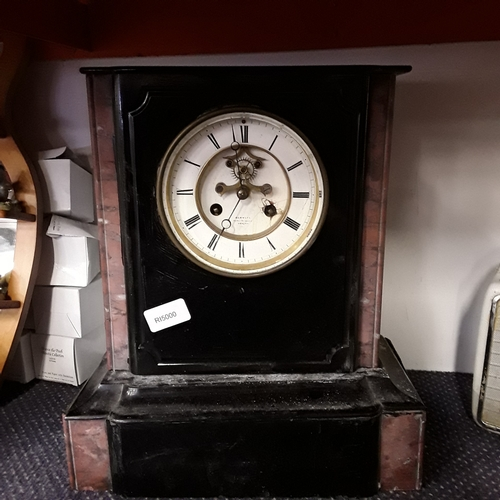 1045 - A slate mantle clock as found....
