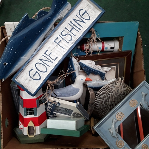 1021 - A box of maritime items....