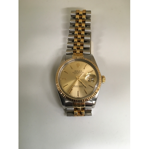 414 - Rolex Datejust Model 16013 Automatic 1987 with quick set date in excellent working order....