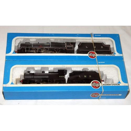 24 - AIRFIX 2 x LMS Black Locomotives - 54122-6 4F Fowler 0-6-0 and 54120 Black 4-6-0 'Royal Scot Fusilie...