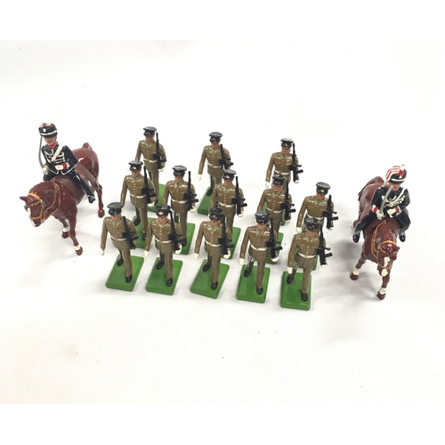 330 - A quantity of Britains soldiers to include part of set 5291 The Honourable Artillery Company 2 mount...