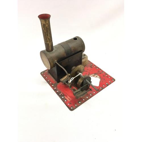 134 - An early BOWMAN horizontal Steam Engine with Burner - Fair Plus....