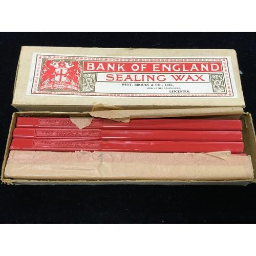 115 - A box of Bank of England sealing wax (unused)....