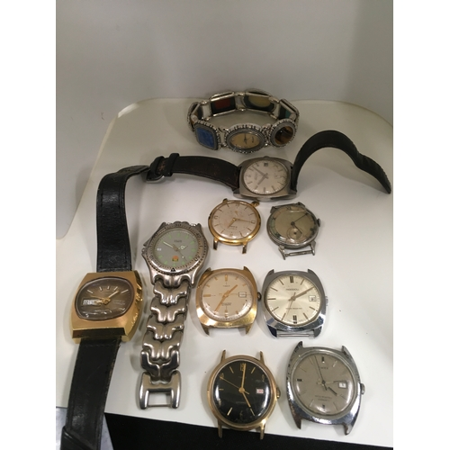 247 - 10 Wristwatches to include a Tag Heuer style....