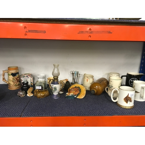 1004 - A mixed lot of china, jugs, mugs etc....