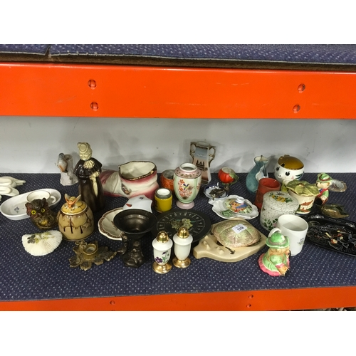 1008 - A large collection of china including a honey pot....