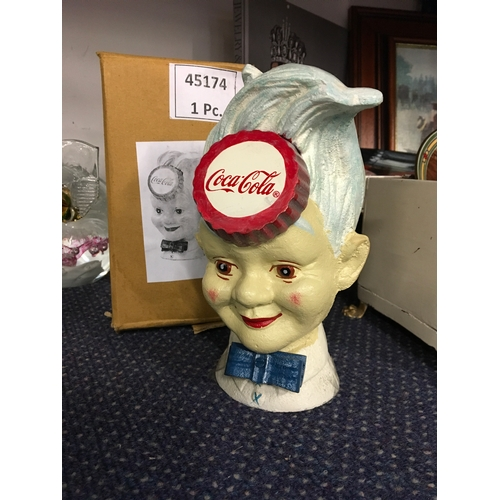 1017 - A Coca Cola moneybox (with box) - 193....