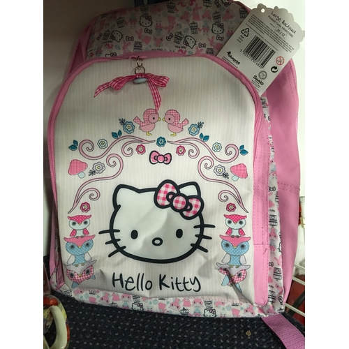 """1048 - A pink """"Hello Kitty"""" backpack...."""