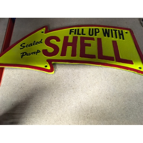 1113 - A curved Shell sign (154)....