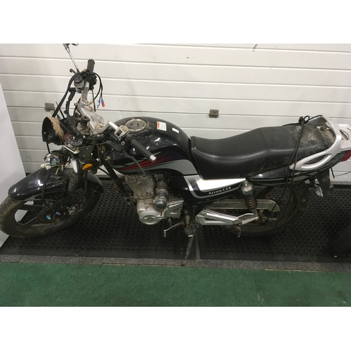 1472 - An Arrow 125 motorcycle. Sold for spares....