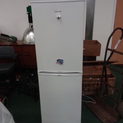 1513A - A Swan upright fridge freezer....