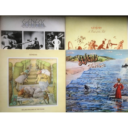 123 - Genisis Vinyl 33rpm Records x 6. Nursery Cryme - Genesis Live - A Trick In The Tail - Foxtrot - The ...