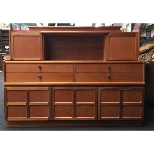 1456 - A 1970's teak Nathan style sideboard. 111cm high x 152cm wide x 46cm deep....