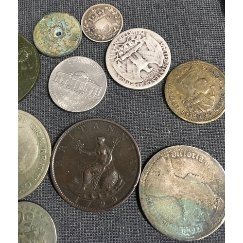 262 - A collection of silver crowns 1800's Jubilee crown and assorted coins....