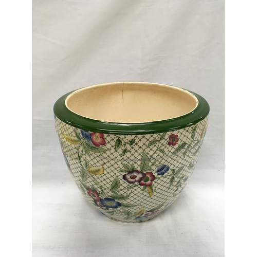 6 - A Beswick china plate together with floral decorated Minton vase....