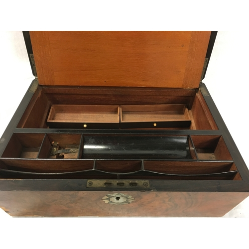 10 - A writing slope together with Clinometer by Hilger & Watts SL2.8 with case....