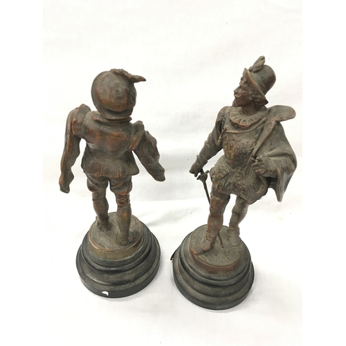 18 - Two spelter figures