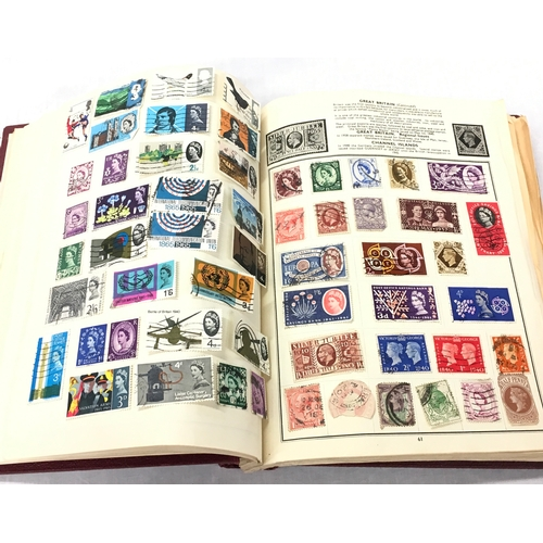 24 - A Stamp album and cased coin: 9 AUG 1902 Edward VII/Alexandra....