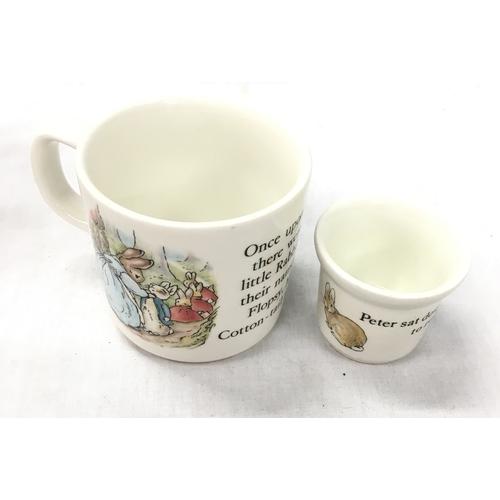 30 - A collection of Peter Rabbit, Bunnykins, Alice in Wonderland etc. children's tableware including Roy...