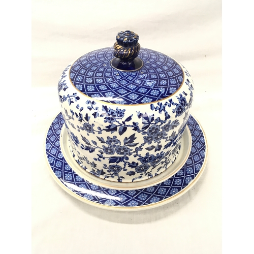37 - A Hawthornden RSR blue & white Cheese Bell....