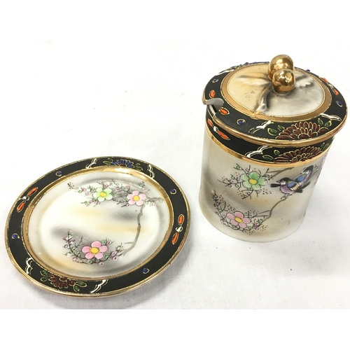 43 - Oriental items of china together with a Royal Worcester bird jug....