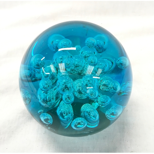 54 - A large turquoise paperweight....