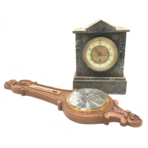 60 - A clock and barometer....