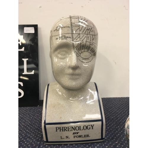 1002 - A phrenology bust....