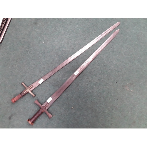 976 - Two old swords, previously used for re enactments....