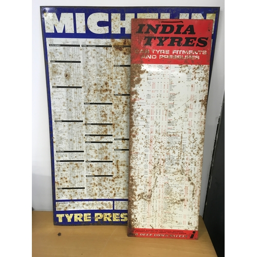 51M - Tyre pressure tin charts India tyres and Michelin....