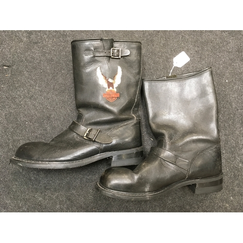2M - A pair of Harley Davidson motorcycle boots, size 11 UK....
