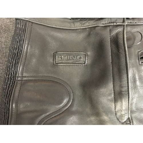 9M - Rhino leather motorcycle trousers....