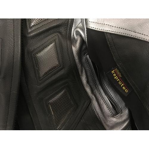 10M - JTS Keprotec leather motorcycle jacket, size 10....