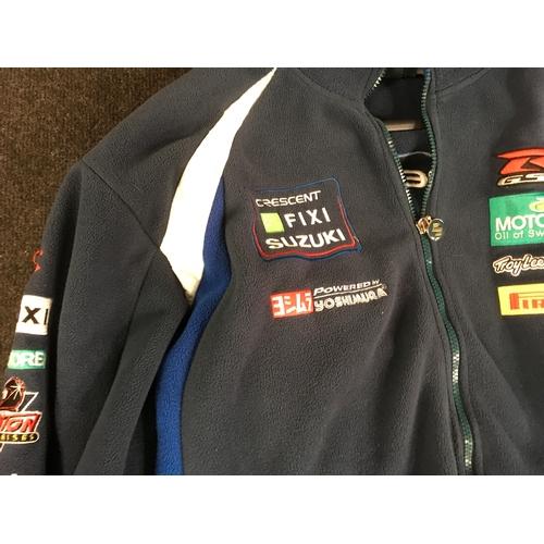 52M - Suzuki race team zipper fleece jacket, XXL....