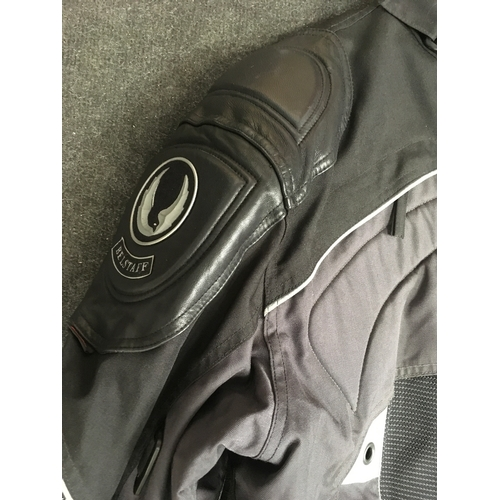 75M - Belstaff leather and Gortex motorcycle jacket. Size XL....