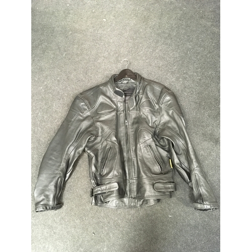 76M - Riossi leather motorcycle jacket, Size 46....