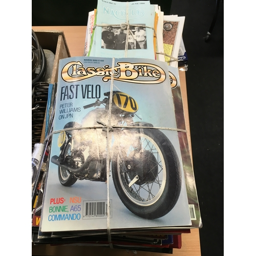 82M - A large collection of assorted vintage motorbike magazines....