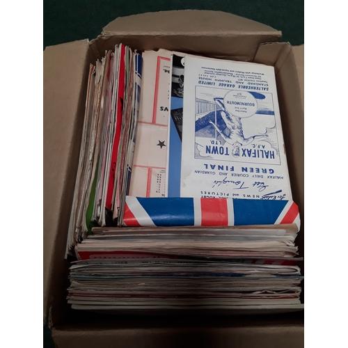 1036 - Four boxes of vintage football programmes....