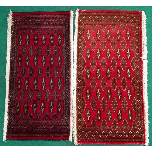 578 - A pair of Turkoman rugs. 105 x 50....
