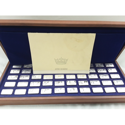 260 - 1000 Years of the Monarchy Silver Set....