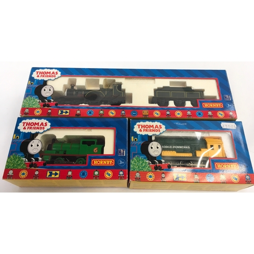 43 - Hornby Thomas & Friends group of OO Gauge locomotives to include R9231 Emily steam loco and tender R...