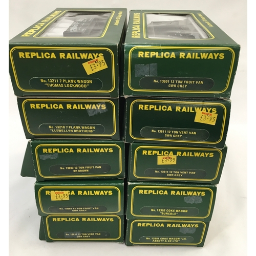 3 - Replica Railways OO Gauge boxed rolling stock to include plank wagons, Coke wagons, Fruit vans and o...