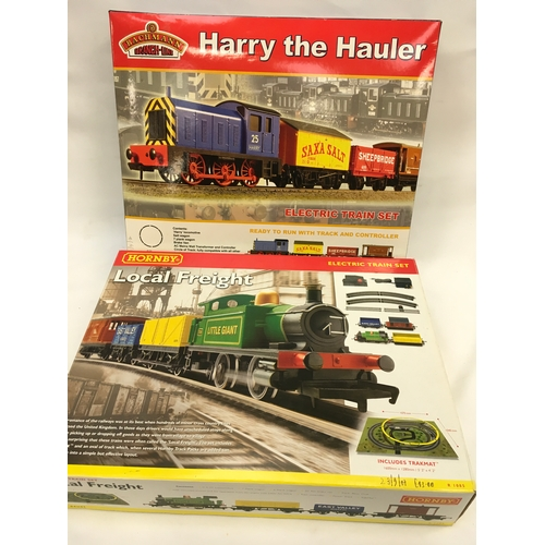 26 - Hornby OO gauge R1085 Local Freight Electric Train Set (missing trakmat) and Bachmann 30-006 Harry T...