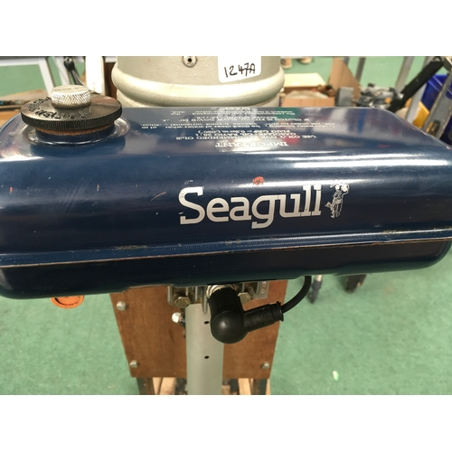 1247A - An early Seagull engine with support transom. In very clean order....