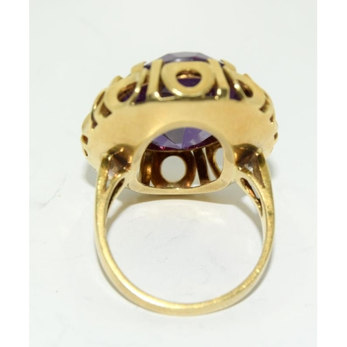 383A - 18ct gold ladies Alexandrit ring size N rare...